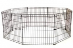 24 inch Mid West Puppy Play Pen - Black