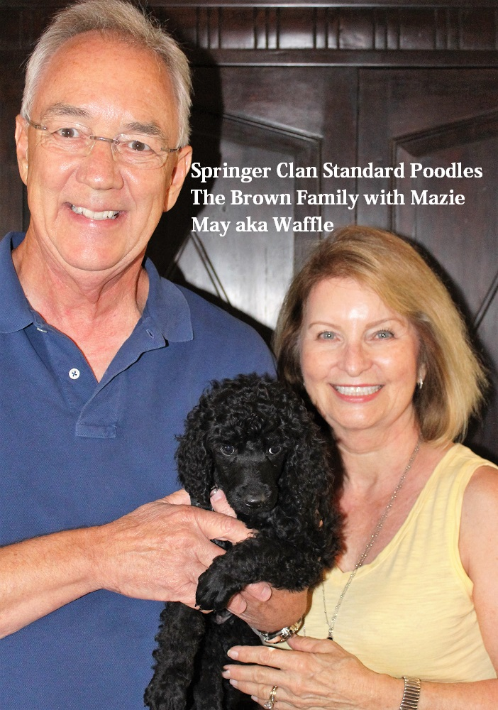 Clark & Susan Brown with Mazie May aka Waffle
