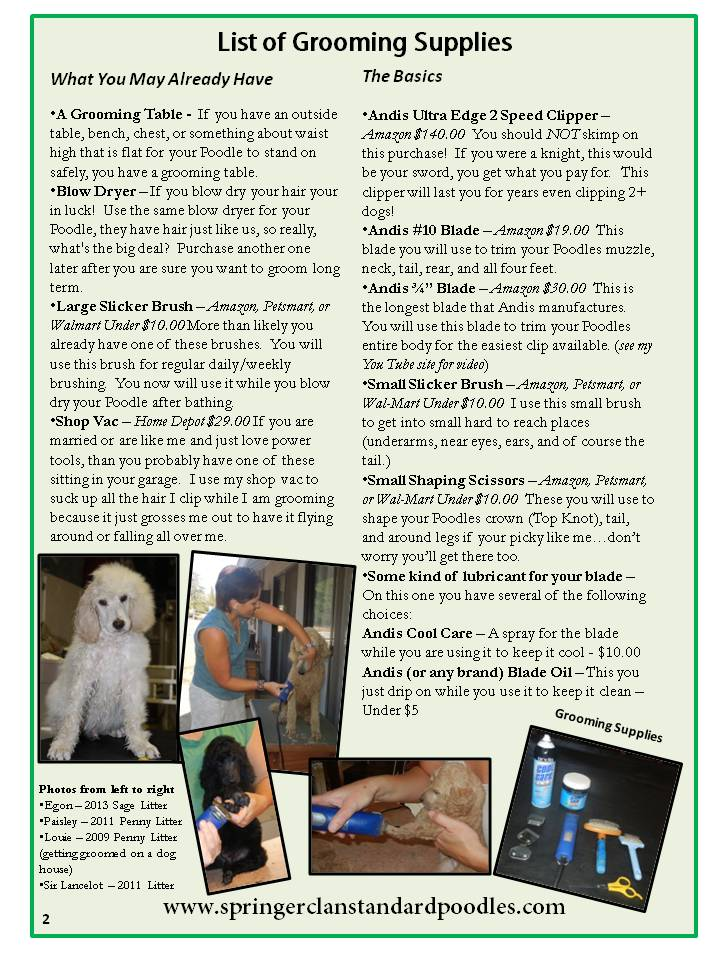 2014.2 The Clans Newsletter - Grooming Your Poodle (2)